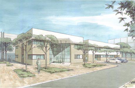 מבנה משרדים מפעל כימיה – רמת חובב